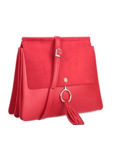 Beverly Hills Polo Club Askılı Çanta Kırmızı